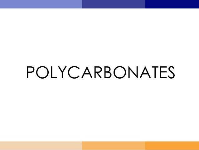 POLYCARBONATES