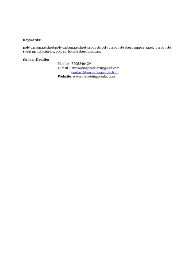 Keywords: poly carbonate sheet,poly carbonate sheet products,poly carbonate sheet suppliers,poly carbonate sheet manufactu...