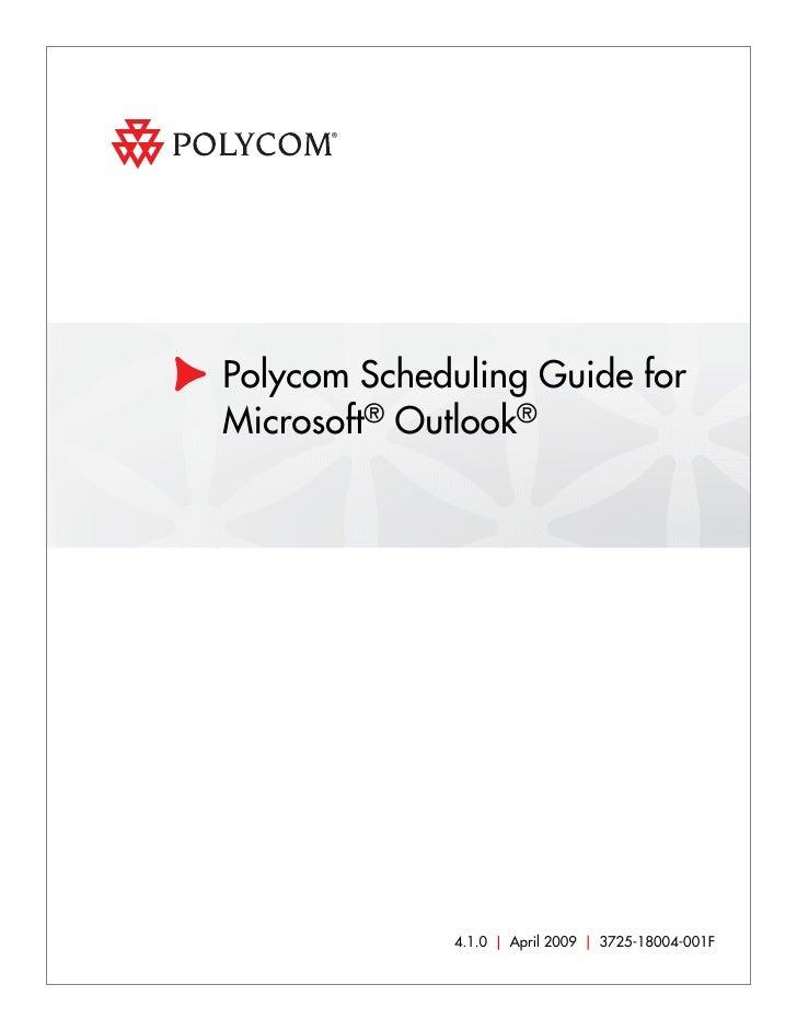 polycom scheduling guide for microsoft outlook rh slideshare net polycom rmx 2000 admin guide Polycom RMX Training