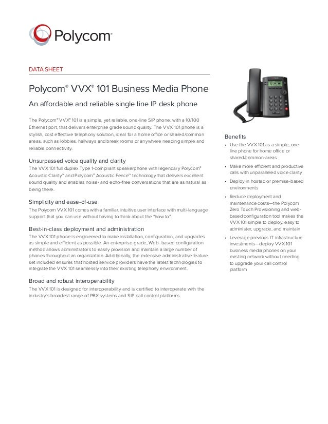 Polycom vvx 101 business media ip phone manual data sheet polycom vvx 101 business media phone an affordable and reliable single line freerunsca Image collections