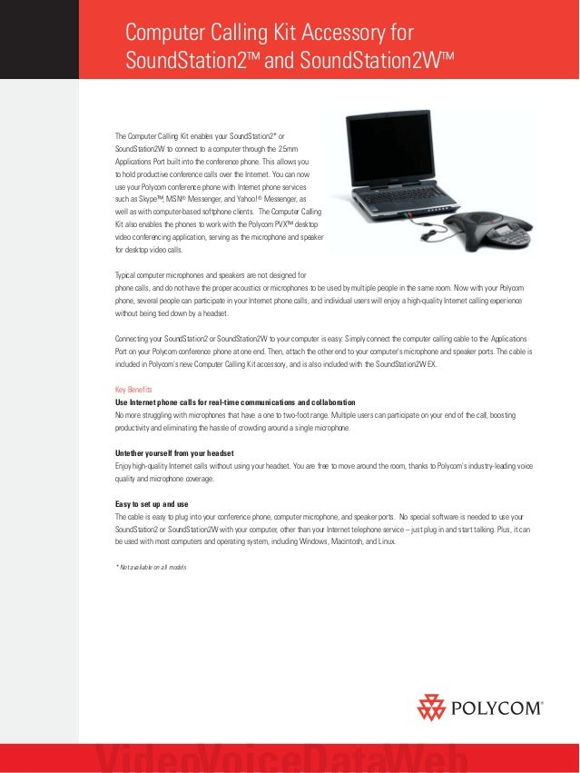 polycom computer calling kit data sheet rh slideshare net