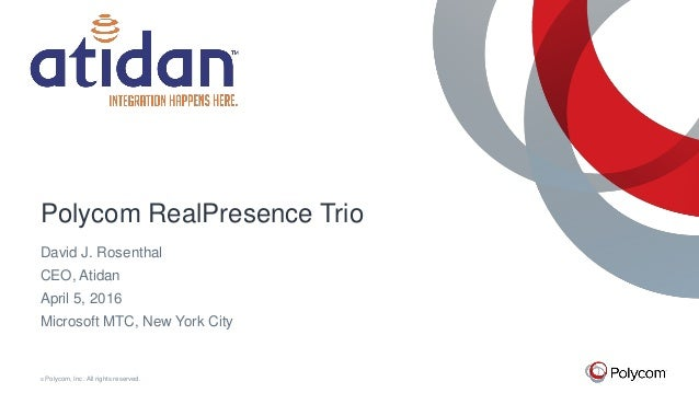 Polycom RealPresence Trio 8800 for Microsoft Office 365 and Skype