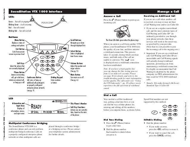 polycom soundstation vtx1000 user guide rh slideshare net Polycom SoundStation 2 User Manual polycom soundstation 2w user manual