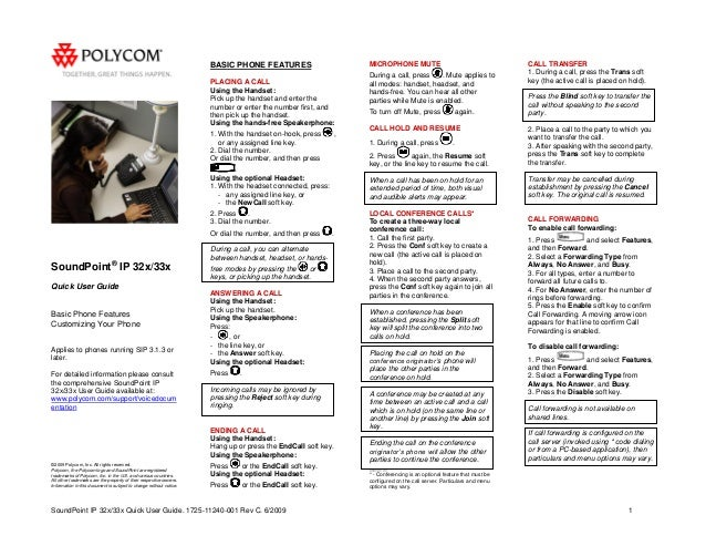 polycom spip335 quick reference guide rh slideshare net Polycom ViewStation Manual polycom soundpoint ip 335 quick user guide