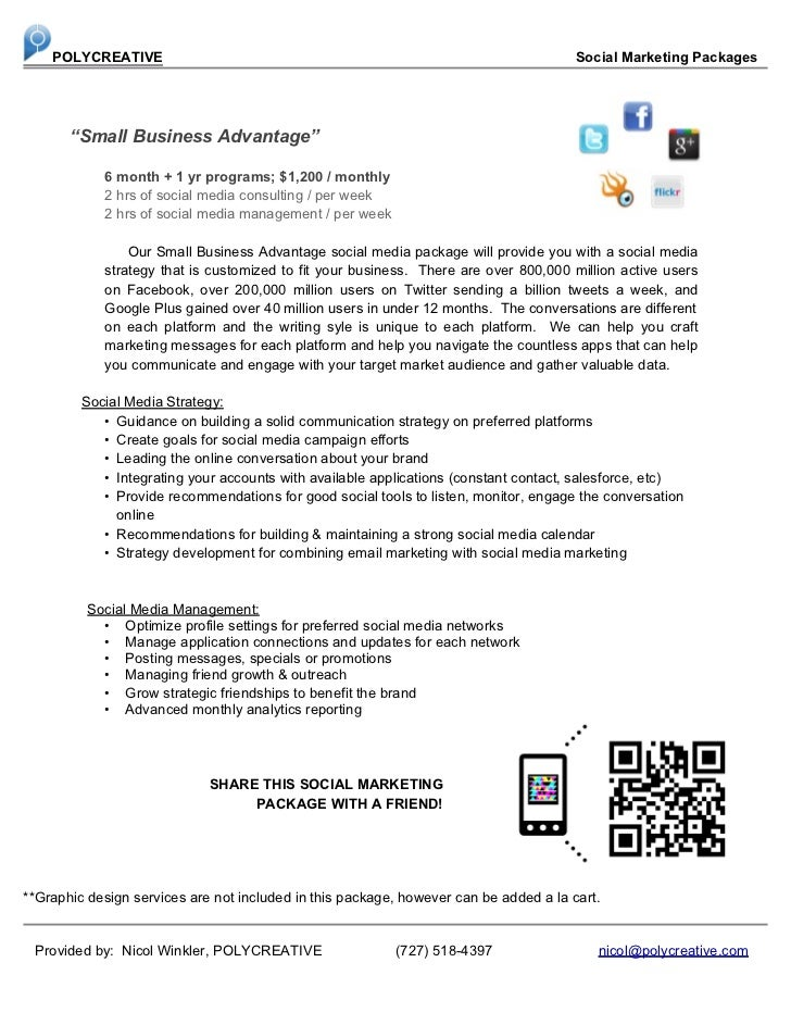 Polycreative Social Media Marketing packages 2012