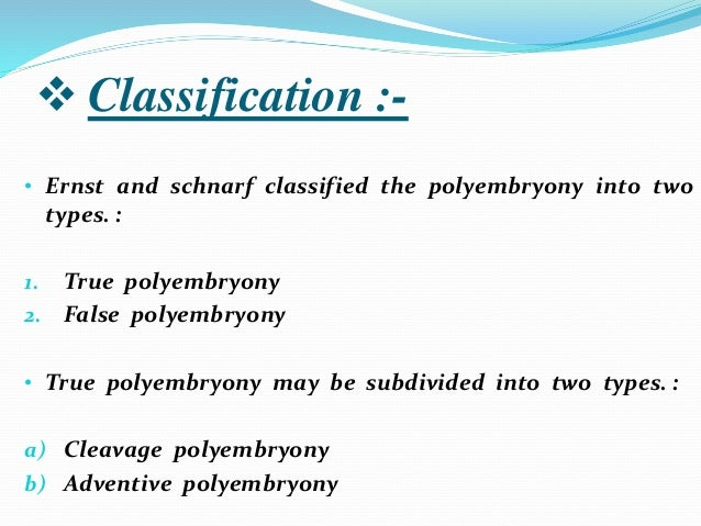 adventive polyembryony