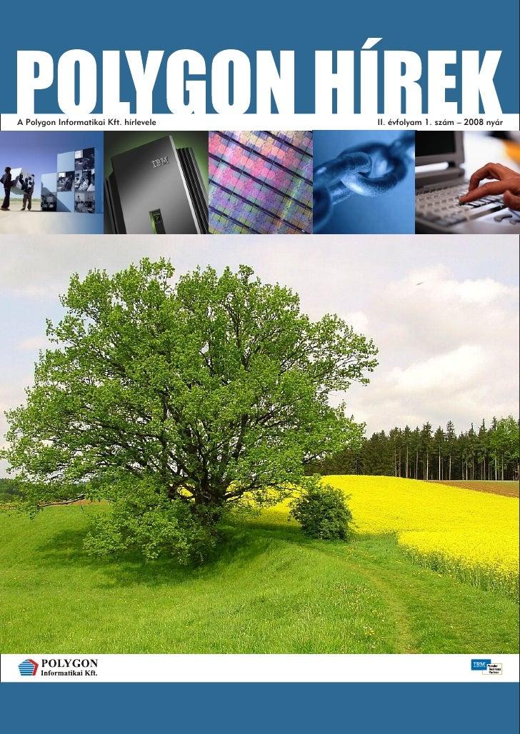 A Polygon Informatikai Kft. hírlevele   II. évfolyam 1. szám – 2008 nyár