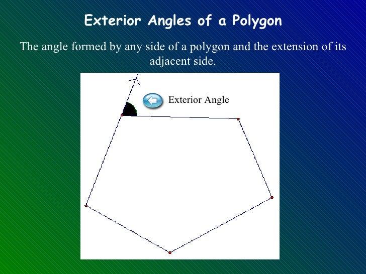 Polygon notes - Exterior angle of a regular polygon ...