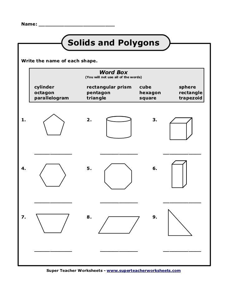 super teacher worksheets polygons Termolak – Super Teacher Worksheets Area