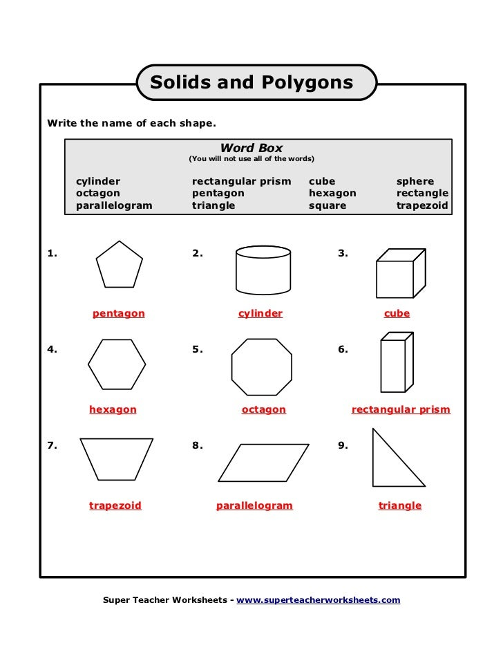 Super Teacher Worksheets Answer Key Polygons polygons practice – Super Teacher Worksheets Answer Key