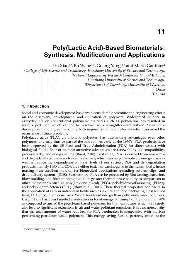 Poly(lactic acid) based biomaterials-tg-tm