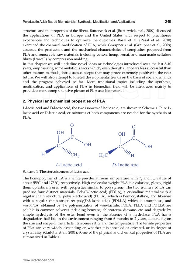 to synthesise polylactic acid Overview background degradation processes polylactic acid synthesis modification uses conclusions.