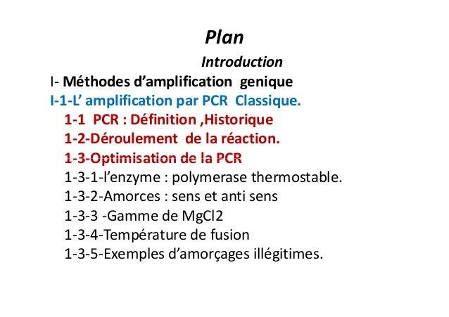 PCR : Polymerase chain reaction : classique et en temps réel Slide 2
