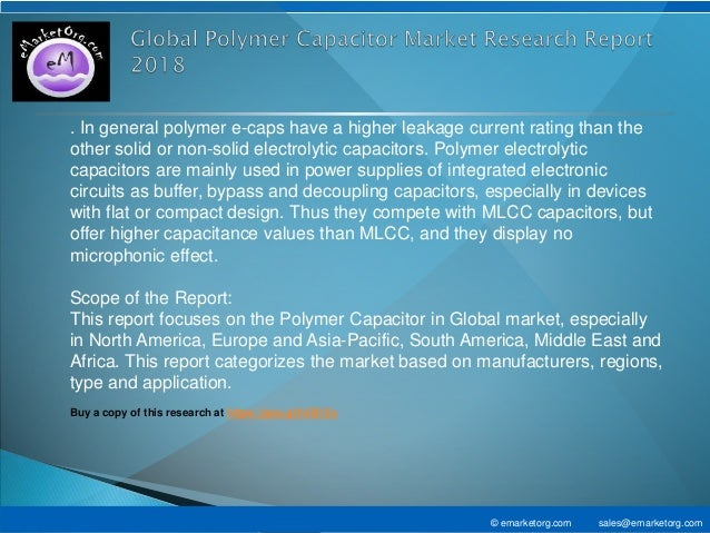 Polymer Capacitor Market Forecast - Global News, Corporate Financial …