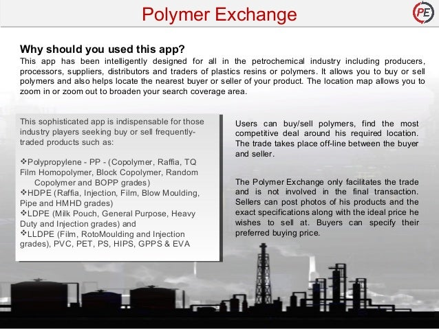Buy and Sell Mobile App for Polymer Product - PolymerExchange