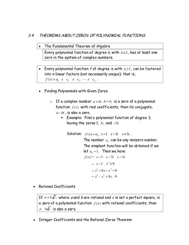 write a polynomial function of least degree that has real coefficients