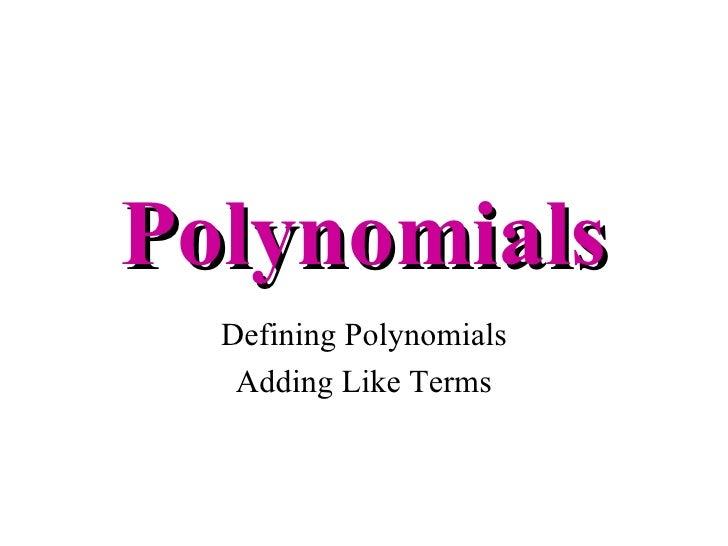 Adding Polynomials – Addition of Polynomials Worksheet