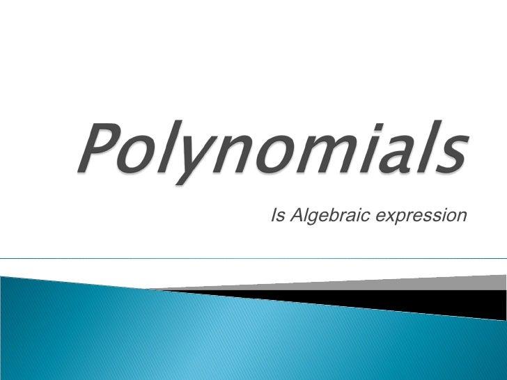 Is Algebraic expression