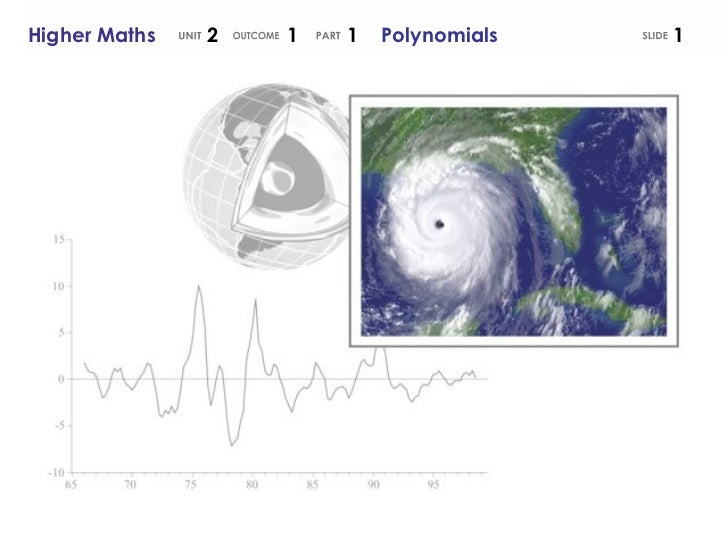 SLIDE Higher Maths  2  1  1  Polynomials UNIT OUTCOME PART