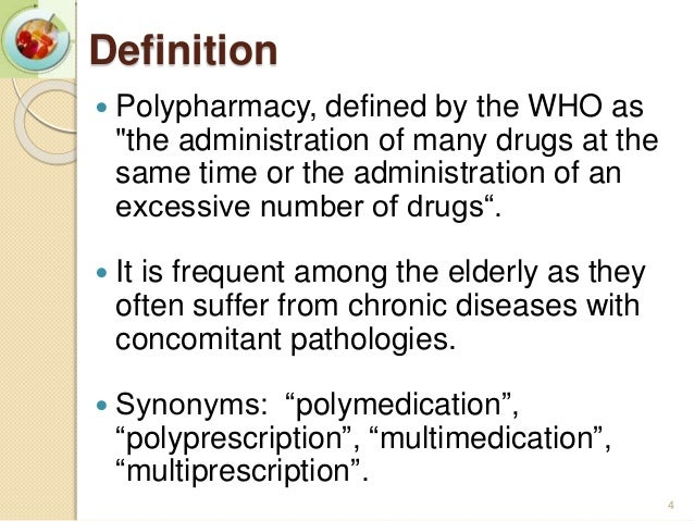 polypharmacy in the elderly Polypharmacy in the elderly marc evans m abat, md, fpcp, fpcgm internal  medicine-geriatric medicine head, center for healthy aging,.