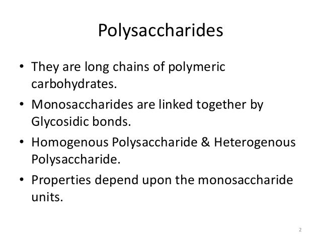 Polysaccharides Xanthan Gum Other Examples