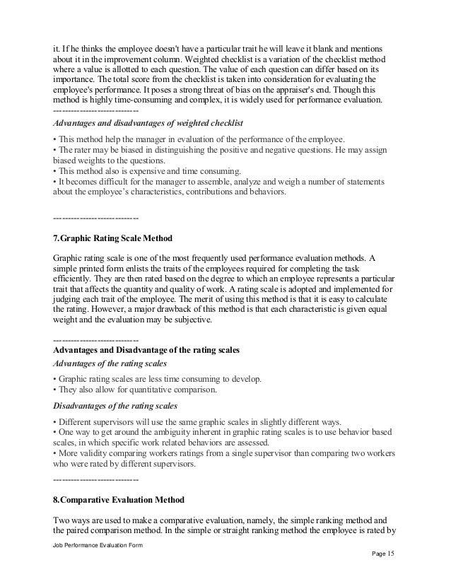 Job Performance Evaluation Form Page 14 15