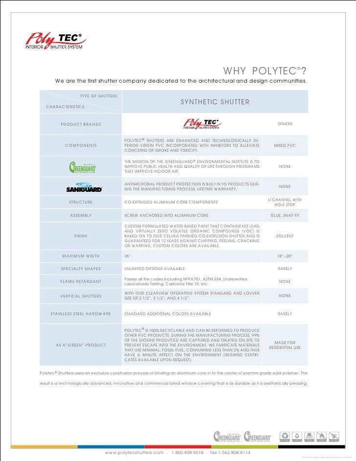 Polytec Shutter Product Brochure
