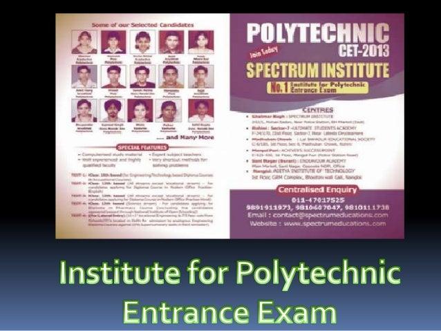 Polytechnic- CET Coaching in Delhi Slide 3
