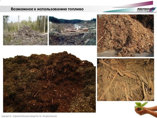 Copyright © – Polytechnik Biomass Energy Pty Ltd - All rights reserved Возможное к использованию топливо