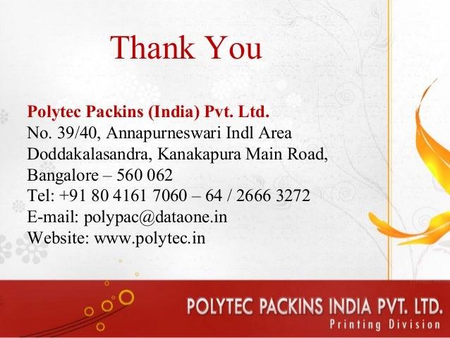 Polytec packins