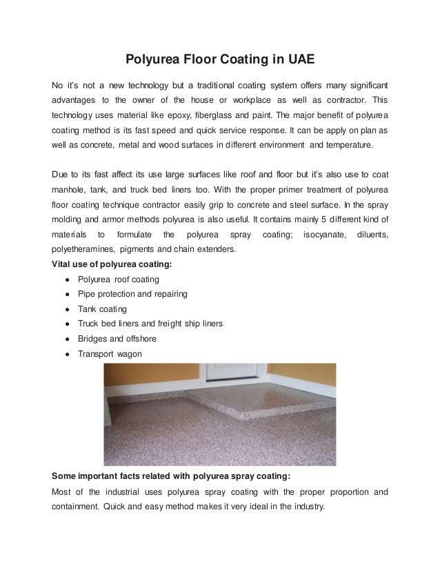 Polyurea Floor Coating in UAE - Euroblast