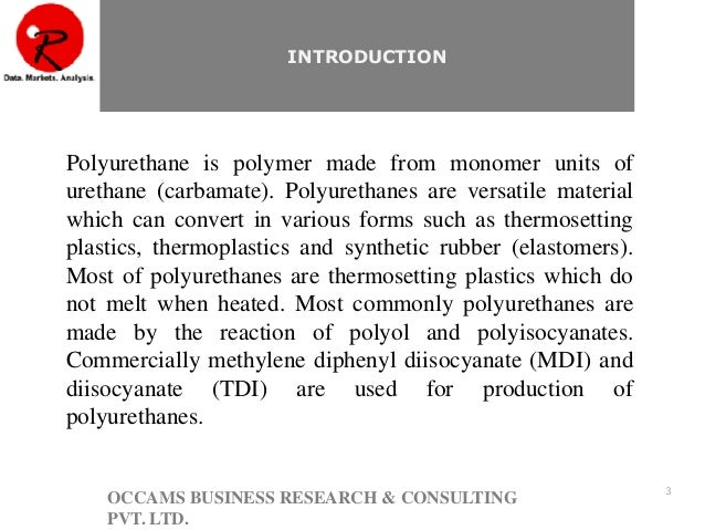 an introduction to polyurethanes An introduction to pu chemistry:  today polyurethanes are recognised as extremely versatile materials and are widely used in lots of industries and applications.