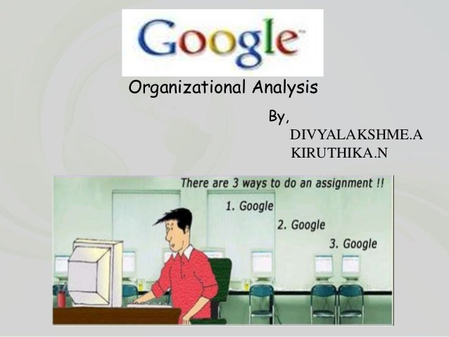 Google organization analysis