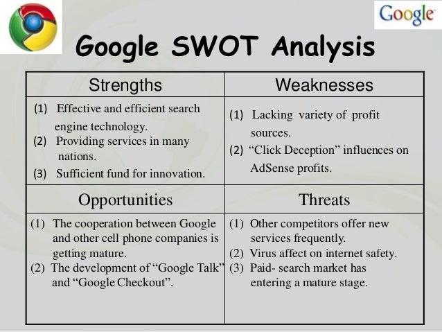 Organizational and strategic analysis of GOOGLE
