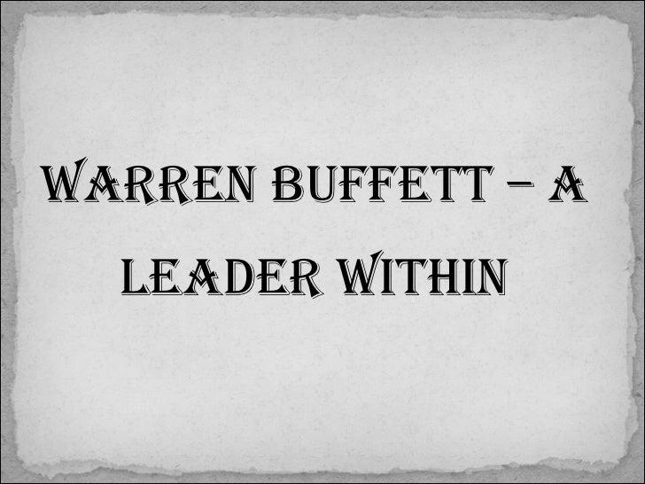 warren buffett leadership traits