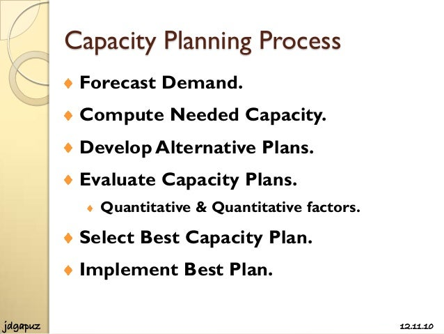 Process Strategies and Capacity Planning