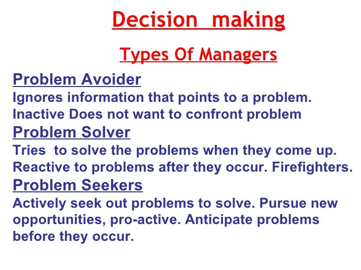 managers problems The issues below are not just for the it manager to solve if managers throughout the company share in the responsibility, results will be quicker and longer lasting.