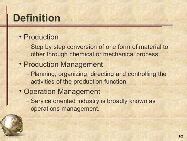 production operation mangement Production operations management has 112 ratings and 8 reviews previous editions of production/operations management have made it the leading text in th.