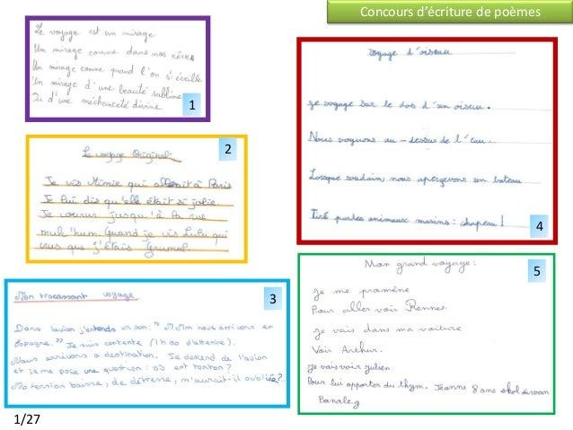 Concours d'écriture de poèmes       1           2                                               4                         ...