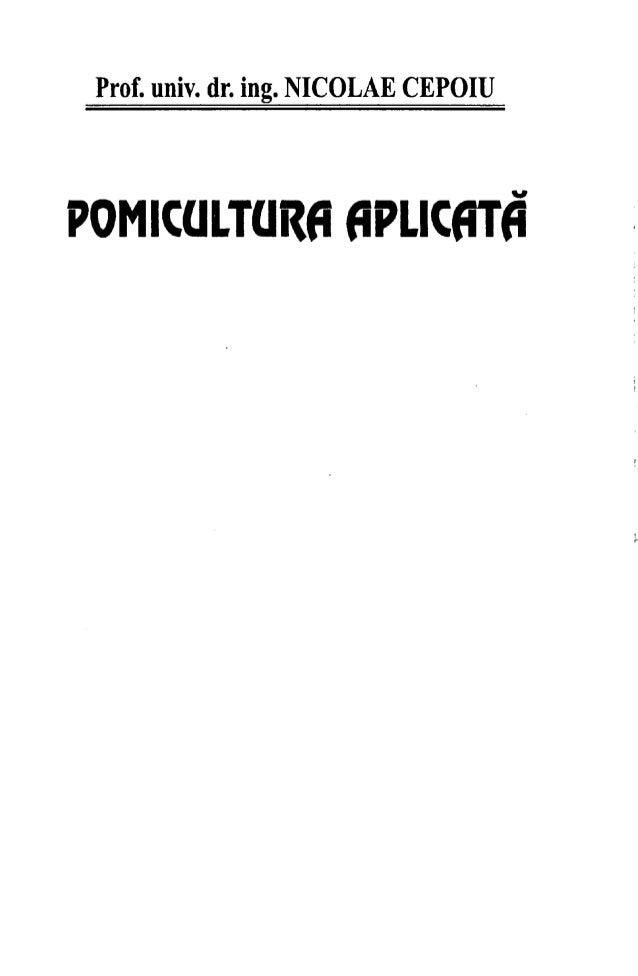 Pomicultura aplicata Nicolae Cepoiu Slide 2