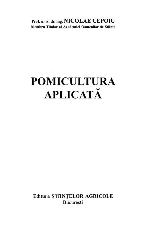 Pomicultura aplicata Nicolae Cepoiu Slide 3