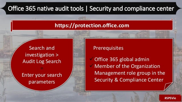Auditing and Analysis methodologies for your Office365 tenant