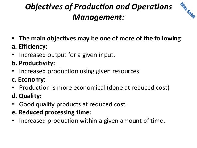notes on production and operation management Download production and operations management notes for mba pdf students can download 2nd sem production and operations management study materials pdf.