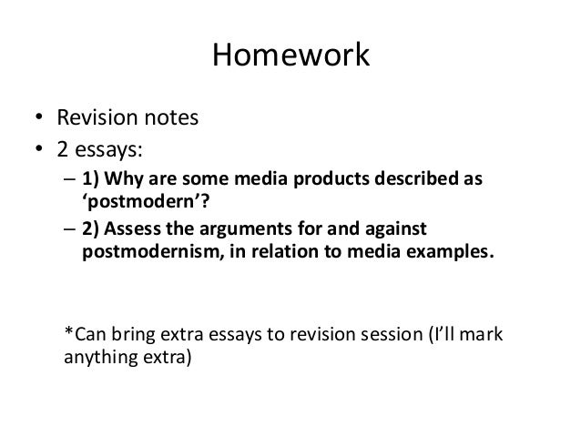 Revision techniques essays