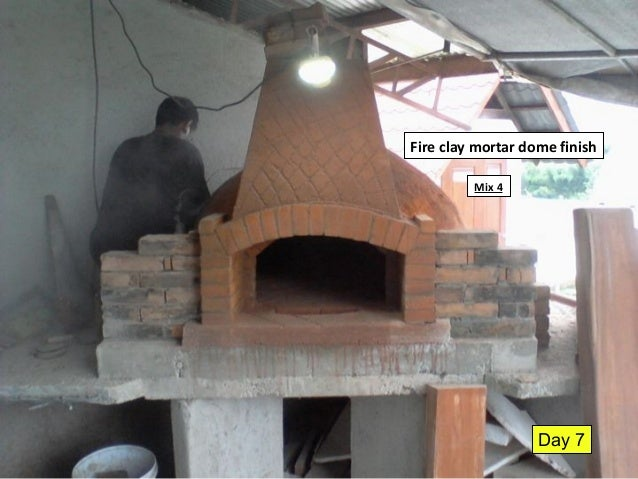 Fire Clay Mortar Mix : Aloha pompeii pizza oven assembly