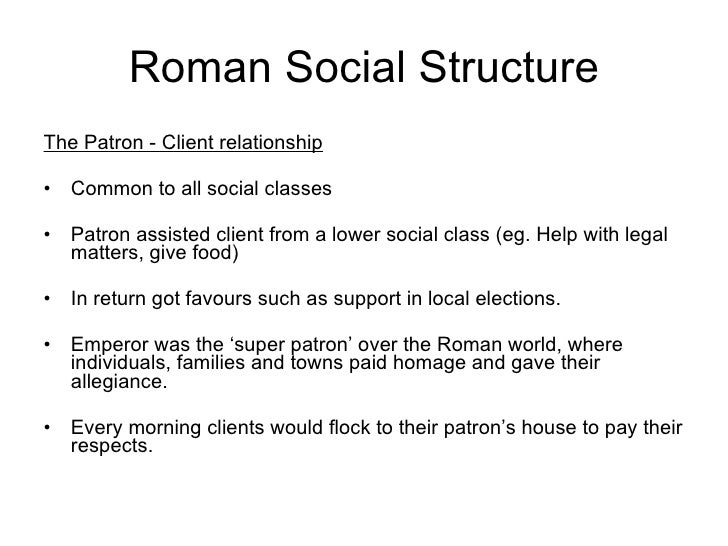 patron and client relationship in rome