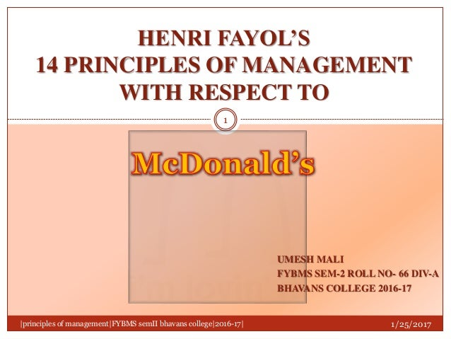 what are the 5 principles of management