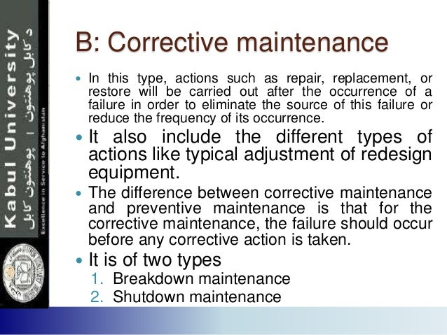 maintenance management  presentation