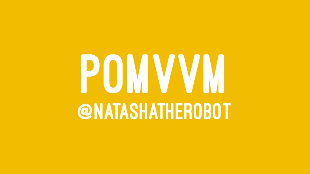 Protocol-Oriented MVVM