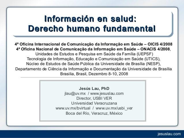 Informaci n en salud derecho humano fundamental for Oficina internacional de destino correos